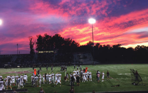 Varsity football gets ready to take the field on September 22. With two games remaining in the regular season, the team remains undefeated.