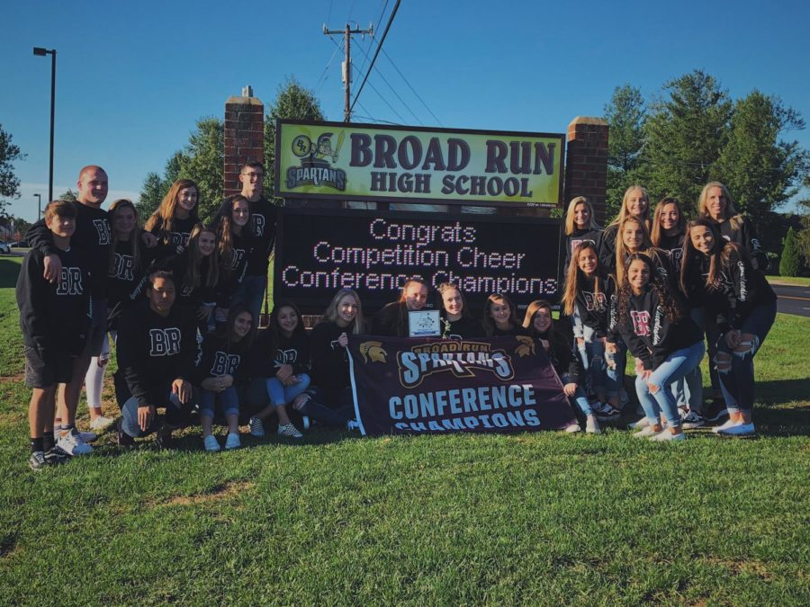 Broad Run Cheer Makes History on and off the Mat