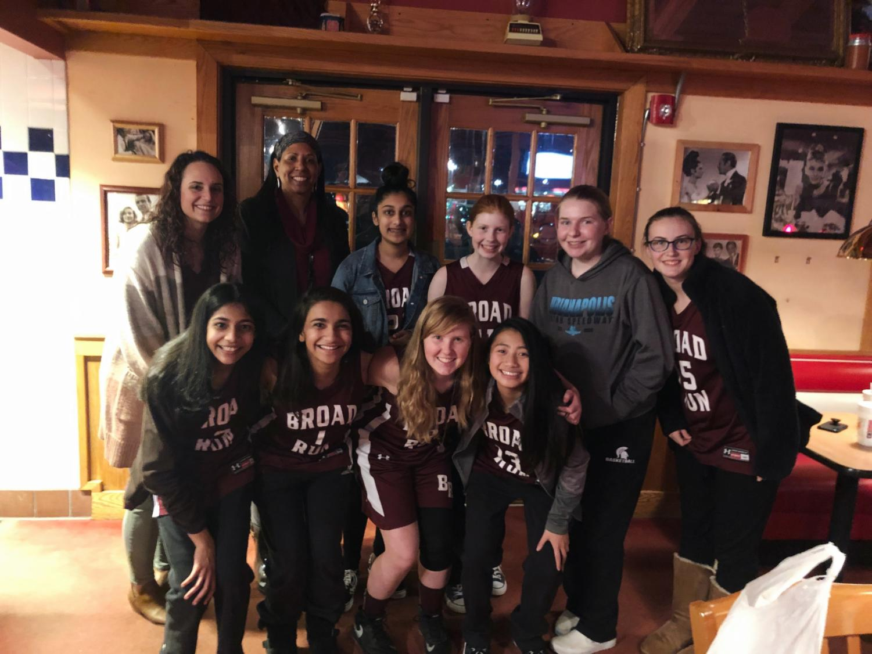 The freshman girls basketball team