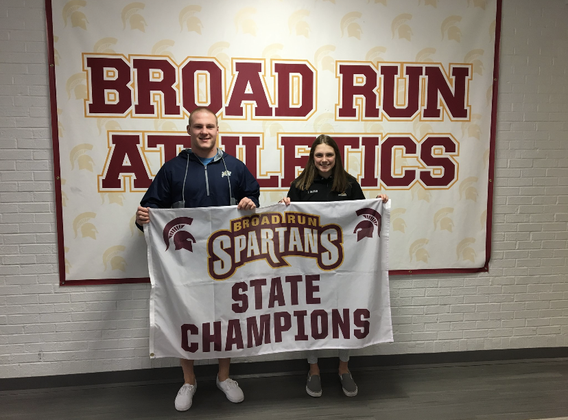 2019 Broad Run state champs John Birchmeier and Kayla Graham